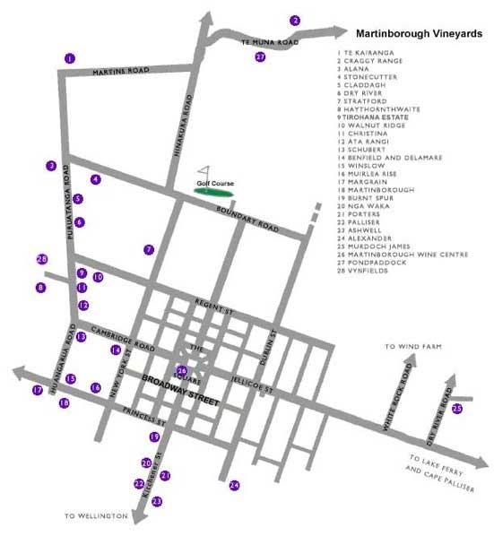 map of martinborough